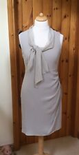 Worn LK Bennett Dress Size 14 With Silk Scarf Detail