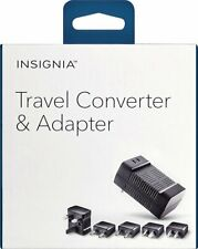 Insignia Travel Adapter/Converter - Black with 5 international plugs New in Box