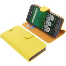 Funda para Doro 8035 Book Style protectora Teléfono móvil estilo libro amarillo