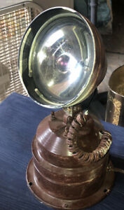 vintage spotlight/searchlight.swivels side to side, electric.Cool, Holiday Displ