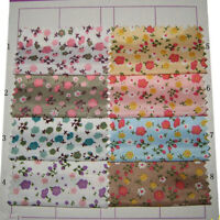 1M Floral Fabric DIY Handmade Sewing Craft Material Flower Print Cloth Cute DIY