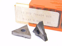 NEW SURPLUS 10PCS. CARBOLOY TNMA 54NGR  W.187  R.015  GRADE: 370 CARBIDE INSERTS