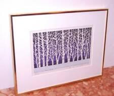 "Fumio Fujita - ""White Forest E"" - Beautiful 1993 Woodblock Print"