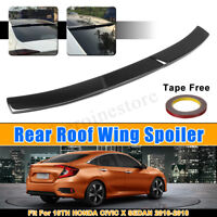 ABS Rear Roof Wing Spoiler Glossy Black For 10th Honda Civic X Sedan