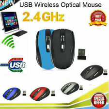 2.4G Wireless Mouse 5 Button Nano Receiver High Precision For PC Laptop US STOCK