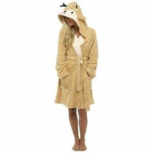 Ladies Fun Novelty Dressing Gown- REINDEER