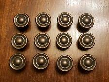 Set of 12 Replacement Round Cabinet Drawer Door Knobs Pulls Rustic Bronze. Zinc
