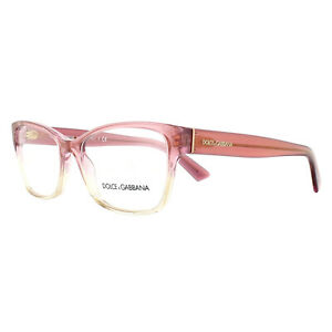 Dolce & Gabbana Eyeglasses Frames DG 3274 3136 Shot Pink Gradient Transparent 52