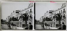 NICE Côte d'Azur STEREO Plaque de verre positive 6x13cm, vers 1920