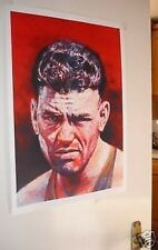 Jack Dempsey Artwork Fighting Pose POSTER red