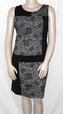 PRE-OWNED Signature by Robbie Bee Size M Lace Printed Wear to Work Ponte Dress