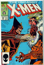 UNCANNY X-MEN #222 CLASSIC WOLVERINE Vs SABRETOOTH BATTLE! 7.5 / VERY FINE-