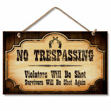 Wooden Warning Caution Home D Cor Hanging Signs Ebay