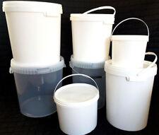 Eimer mi Deckel 5 10 20 25 33 Liter Leereimer weiß transparent lebensmittelecht