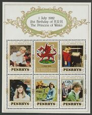 Penrhyn Islands   1982   Scott # 194a    Mint Never Hinged Souvenir Sheet