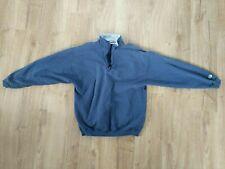 Russell Athletic High Cotton Partial zip Sweatshirt Men's Large Blue