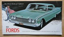 FORD orig 1960 USA Mkt Prestige Brochure Fairlane 500 Galaxie Sunliner Starliner