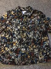 Christopher Banks Muted Brown Floral Lightweight Jacket Sz L Gently Used