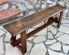 Superbe Ancien BANC de TABLE de FERME 1950 en MERISIER