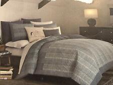New Ed Ellen Degeneres Akira Comforter Set Full/Queen Blue Comforter & 2 Shams