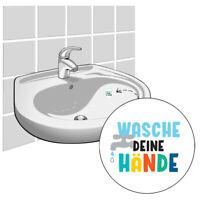 3x Sticker für Waschbecken & Fliesen - Wasche deine Hände - Fliesenaufkleber
