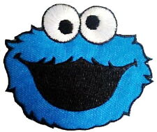 Cookie Monster Iron On Sew On Cartoon Kids Muppets Embroidered Badge Patch 3.4""