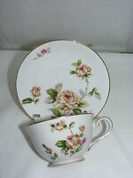 Vintage Lynmore Fine China Japan Golden Rose Cup and Saucer Set