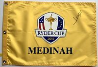 Jose Maria Olazabal signed ryder cup flag medinah golf 2020 pga