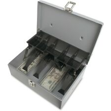 Locking Cash Box steel 5-Compartment Tray for bills & coins spr15507