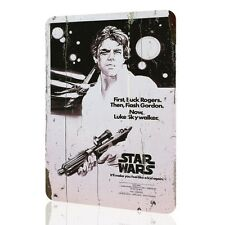 "TIN SIGN ""Star Wars"" Classic Poster Movie Luke Skywalker Retro Vintage Rusted"