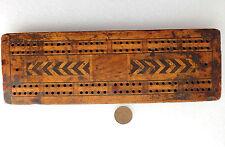 VINTAGE Cribbage score board per Domino o Cristalle Pub Giochi inlaid wood
