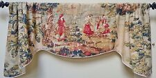 COVINGTON BOSPORUS ANTIQUE RED-SCALLOPED WINDOW VALANCE/ FRENCH COUNTRY/TRIMMIED