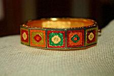 """Joan Rivers Multi Colored Enamel Bracelet 5/8"""" Wide"""