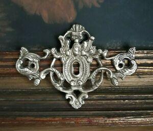 Vintage Solid Bronze Dresser Keyhole Escutcheon
