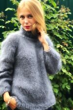 Turtleneck mohair sweater Made for order Hand knitter mohair sweater