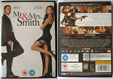 MR AND MRS SMITH ANGELINA JOLIE BRAD PITT FOX DTS REGION 2 PAL DVD