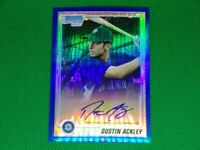 2010 Bowman Chrome Prospects Blue Refractors #BCP89B Dustin Ackley 022/150 Auto