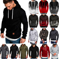 Men's Winter Slim Hoodie Hooded Sweatshirt Long Sleeve Sweat Outwear Coat Jacket