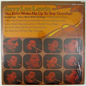 JERRY LEE LEWIS She Evben Woke Me Up To Say Goodbye LP 1970 COUNTRY ROCK NM- NM-