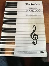 Technics KN7000 Owners Manual Operating Instructions