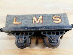 HORNBY SERIES PRE-WAR LMS OPEN WAGON GOLD LETTERING RED OUTLINE
