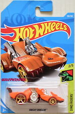 HOT WHEELS 2018 DINO RIDERS KNIGHT DRAGGIN #2/5 ORANGE