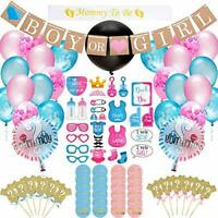 Baby Gender Reveal Party Supplies Kit - 103 Piece Baby Shower Decorations With
