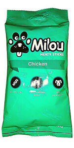 Milou  meaty sticks chicken-100gr  for Dogs