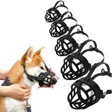 Adjustable Strong Dog Muzzle Basket No Bite Mouth Mask Bark Cage Flexible Straps