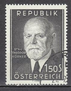 AUSTRIA used 1957 SC# Nr 614 President Theodor Korner