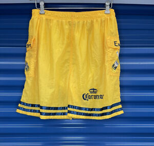 Y2K Corona Extra Beer Embroidered Men's Swim Trunks Shorts Party size M VINTAGE