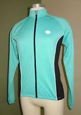 Womens Descente Cycling Jacket Small S Blue Full zip Back Pockets U24