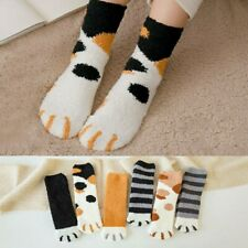 Women Winter Cat Paw Claw Coral Fleece Sleeper Ankle Socks Warm Funny Sock 1Pair