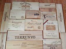 6 x ASSORTITI vino cassetta di legno fine PANNELLI TARGA A MURO CASA BAR PUB DECORAZIONE